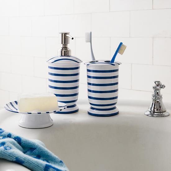 Blauwe badkamer accessoires - Badkamer blauw ...