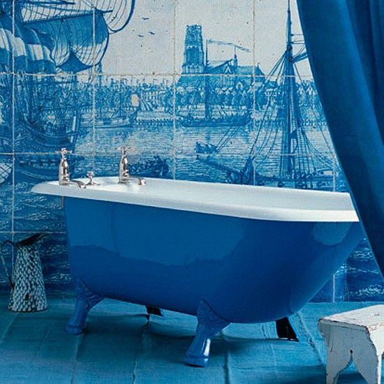 Blauwe badkamer ontwerpen