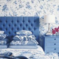 Blauwe vloerbedekking voor de slaapkamer