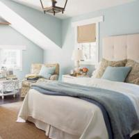Blauwe muur for Kleur moderne volwassen kamer